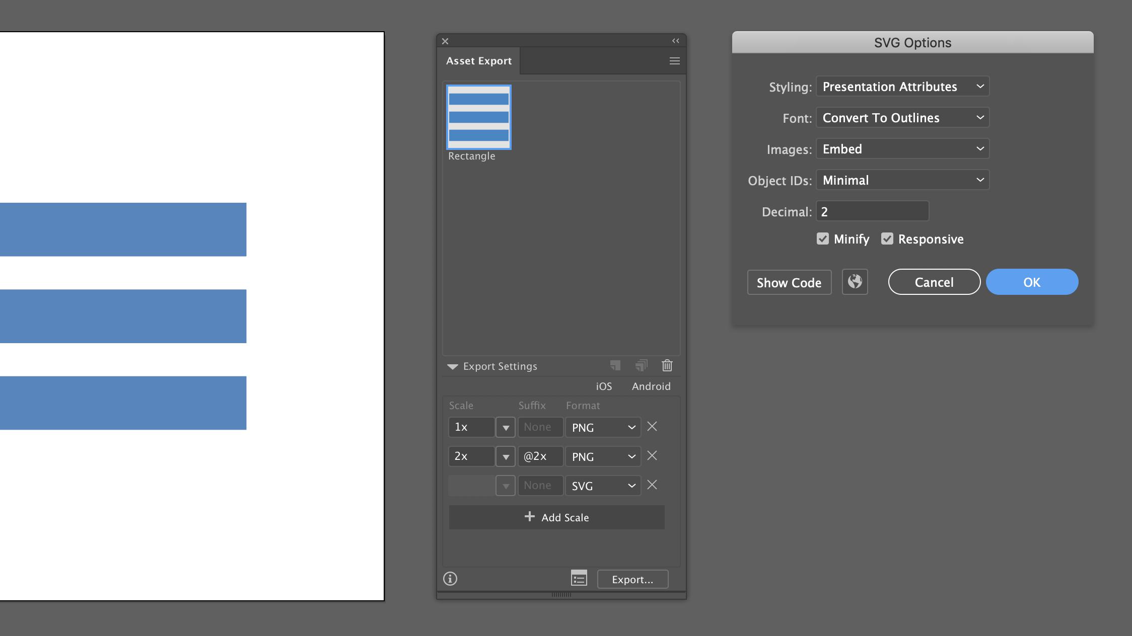 Illustrator: Сбор ассетов
