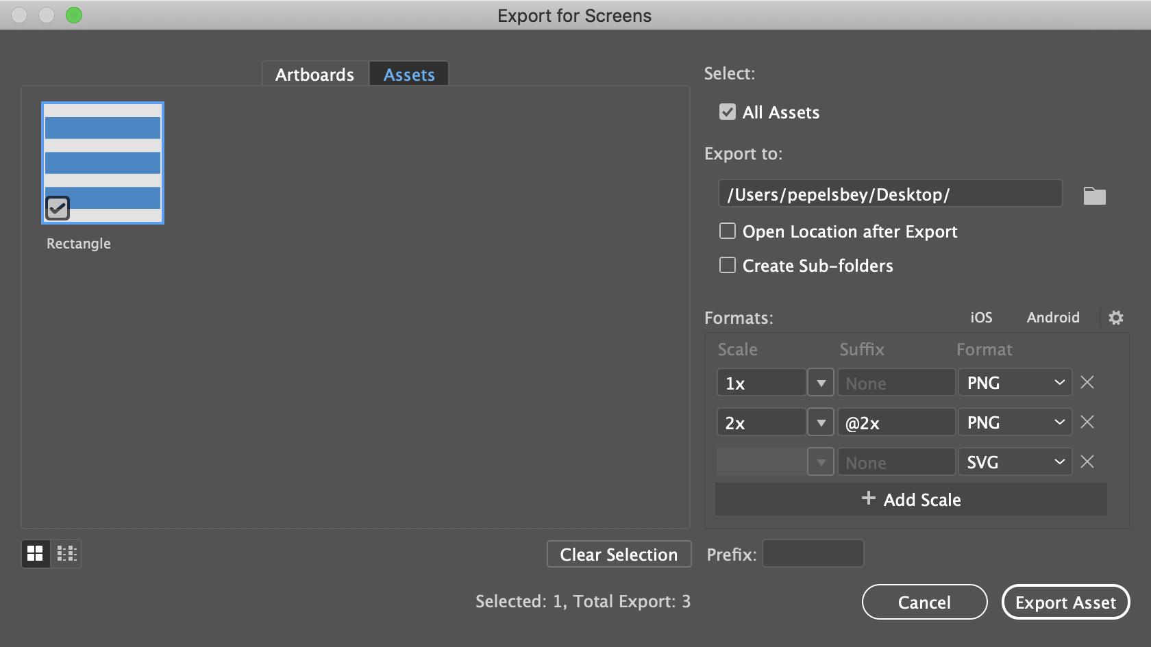 Illustrator: Экспорт ассетов