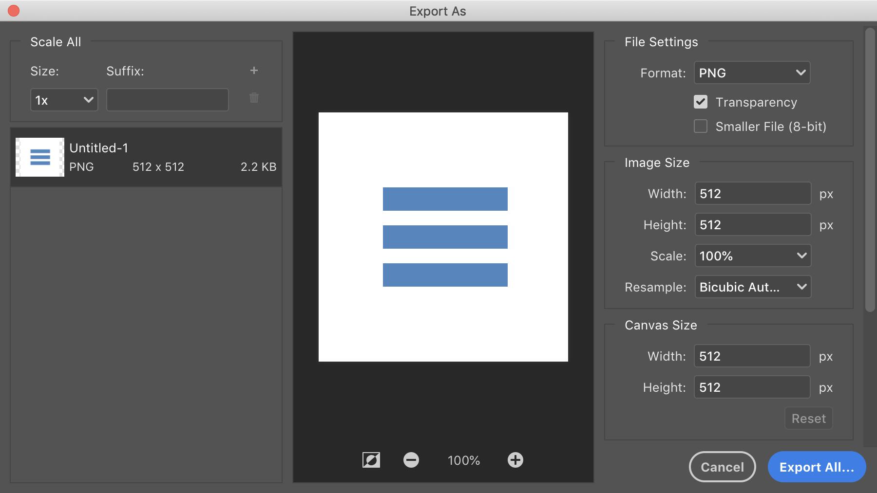 Photoshop: Экспорт документа